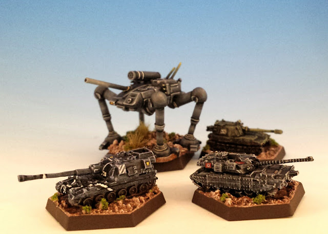 Painted Tracked Vehicles for Battletech