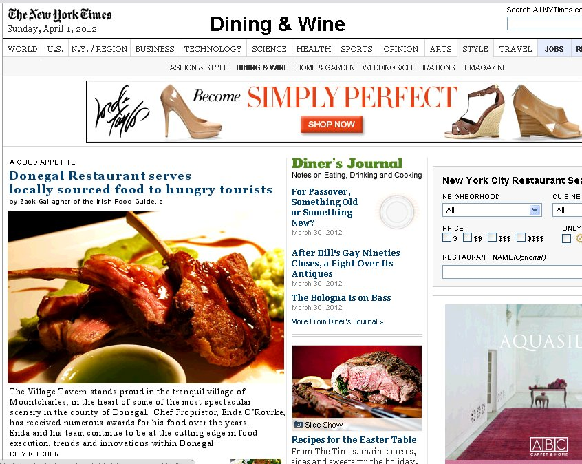 Irish food guide blog zack gallagher irish food blogger food and donegal restaurant in new york times food section forumfinder Image collections