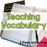 Read how teachers make their vocabulary lessons meaningful and engaging by using cue cards, games, student competitions and teaching Greek and Latin root words from the 2 Peas and a Dog blog.