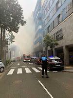 Incendio vivienda calle Albareda las palmas de gran canaria domingo 12 de mayo