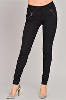 Pantalon Addie negru mulat casual