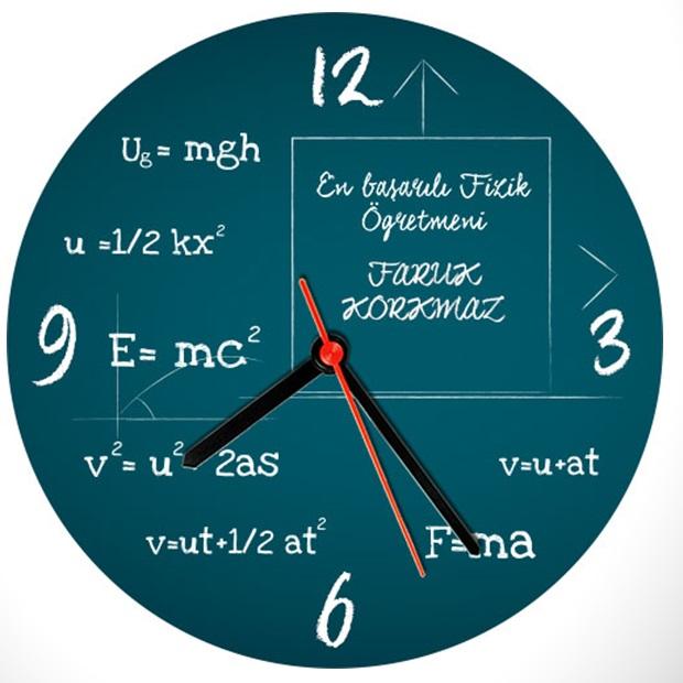 Fizikçilere Özel Duvar Saati