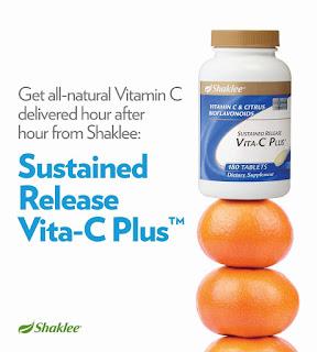 slowly releases vitamin c; vitamin c for skin; Shaklee Malaysia; Shaklee produts