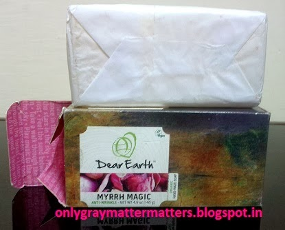 Dear Earth Myrrh Magic Anti-Wrinkle Soap review