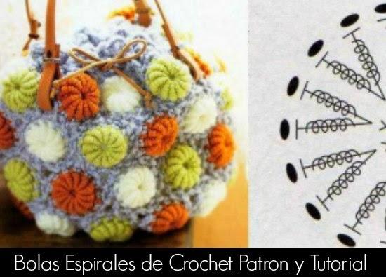 espirales, crochet, flores, bolas, tejer, labores, manualidades