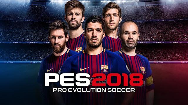 تحميل لعبة بيس pes 2018  للكمبيوتر والموبايل الاندرويد برابط مباشر ميديا فاير download pro evolution soccer 2018