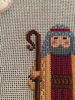 carol dupree needlepoint nativity shepherd