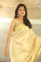Harshitha looks stunning in Cream Sareei at silk india expo launch at imperial gardens Hyderabad ~  Exclusive Celebrities Galleries 022.JPG