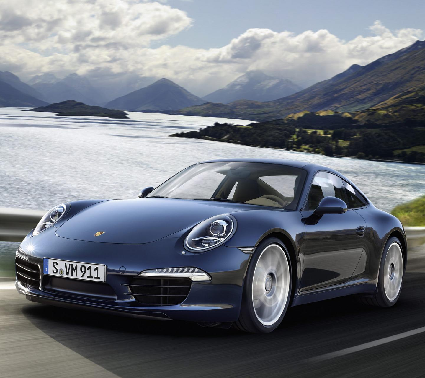 Porsche 911 Carrera Blue Sport Car HD Wallpaper PC