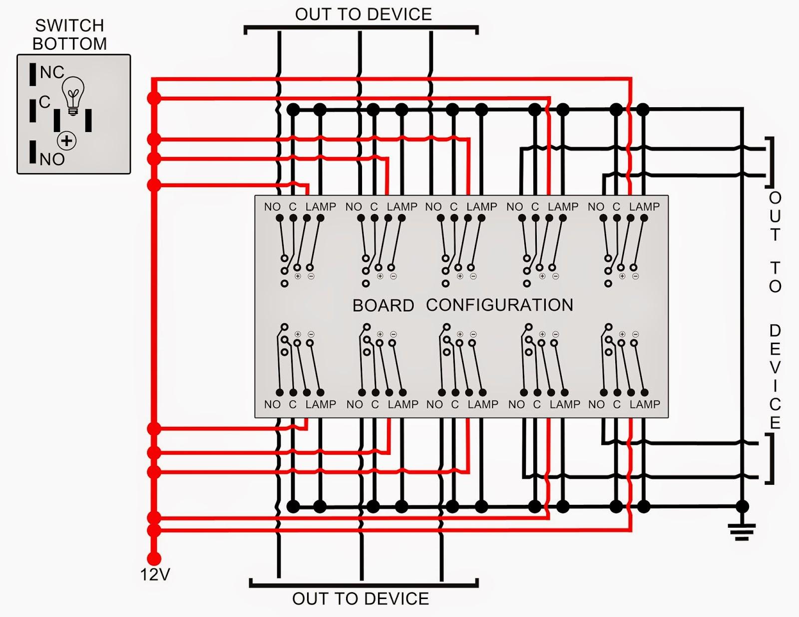 circuit diagram knight rider lights [ 1600 x 1237 Pixel ]