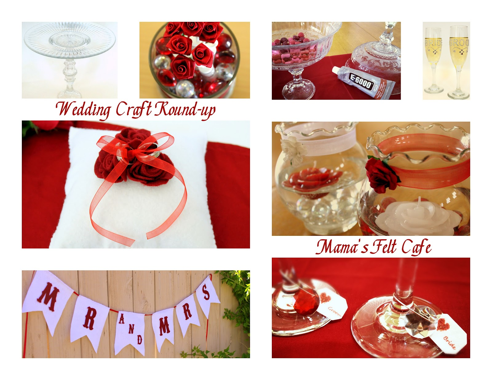 Mama S Felt Cafe Diy Wedding Craft Round Up