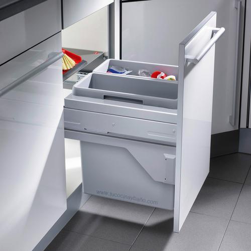 cubo basura puerta extraible mueble cocina 45