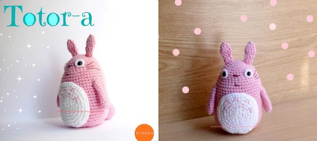 pink totoro handmade crochet