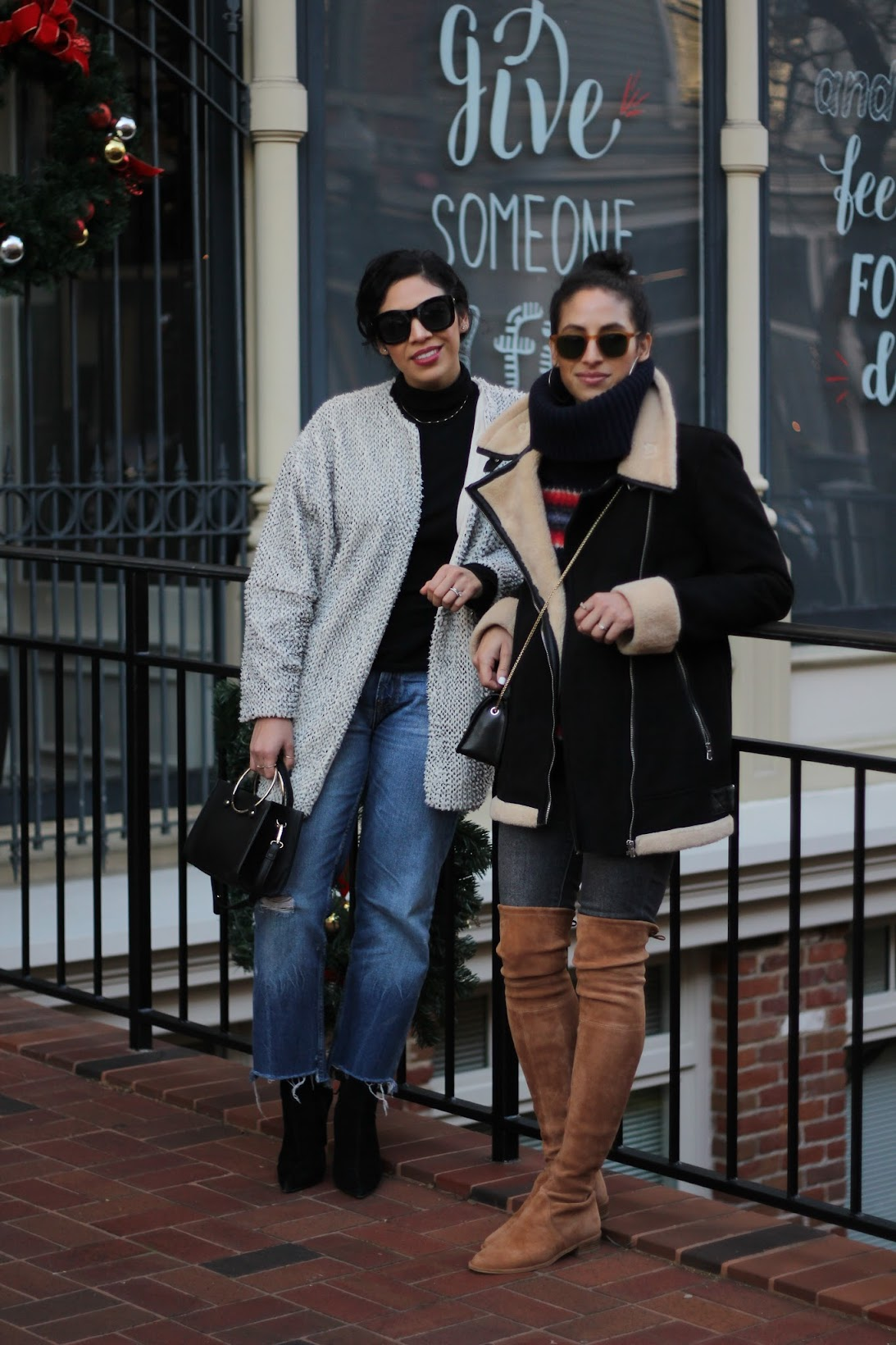 blogger besties, daisy's fashion garden, zara winter style, Furla crossbody, garrett leight sunglasses, how to look chic this winter, SF bloggers, Stuart Weitzman boots, NYFW