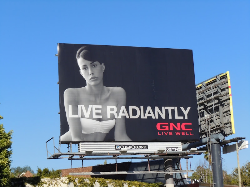 Live Radiantly GNC billboard