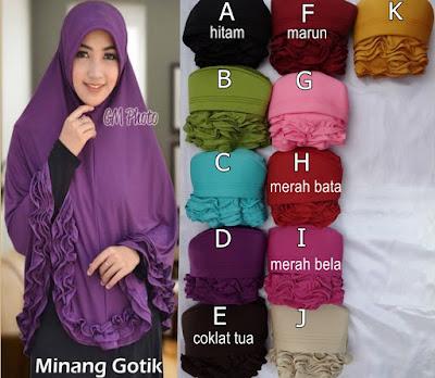 Grosir Jilbab Minang Gotik