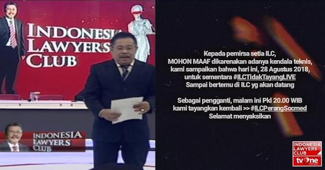 ILC tvOne Mendadak Batal Tayang, Ini Dugaan Fadli Zon