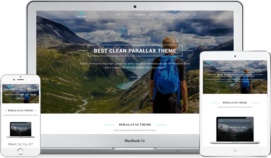 Himalayas One Page WordPress Theme Free Download