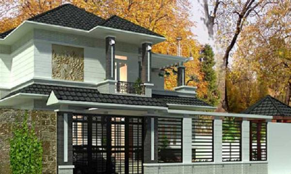 hàng rào cho nhà 2 tầng