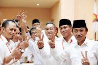 <b>Hadiri Rakorcab Partai Gerindra Loteng, Mori Hanafi Disambut Yel Yel SALAM 2 JARI</b>