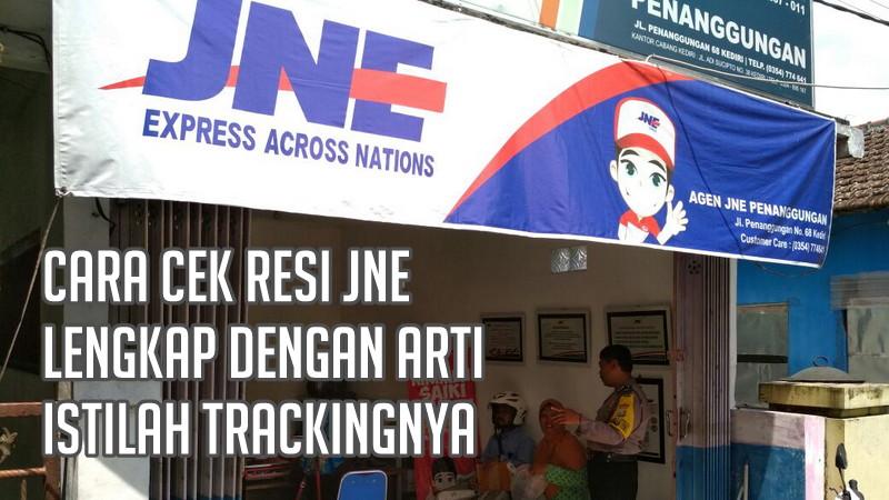 gambar arti cara tracking resi JNE