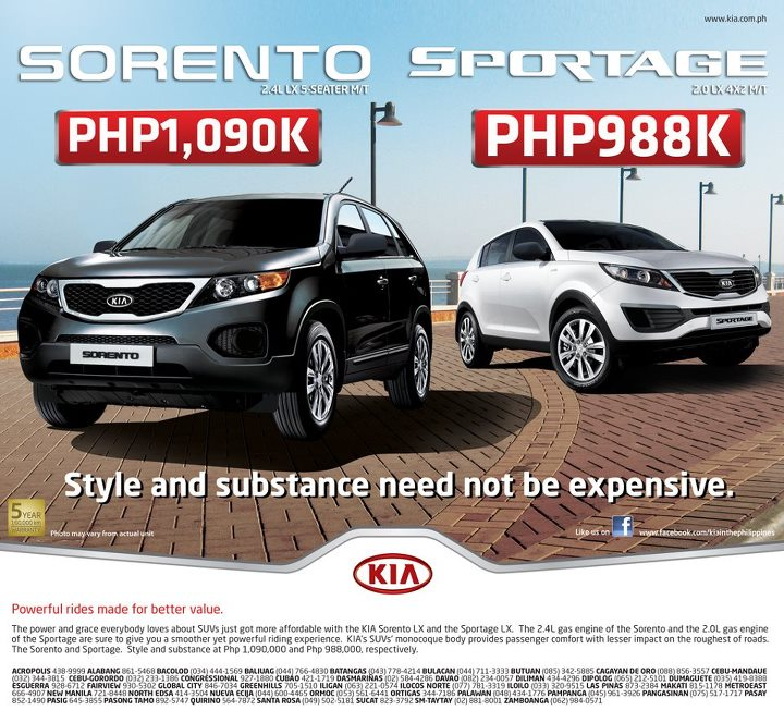 Kia Launches Value Oriented Sportage Sorento Models Philippine