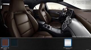 Nội thất Mercedes CLA 250 2016 màu Nâu Nut 804