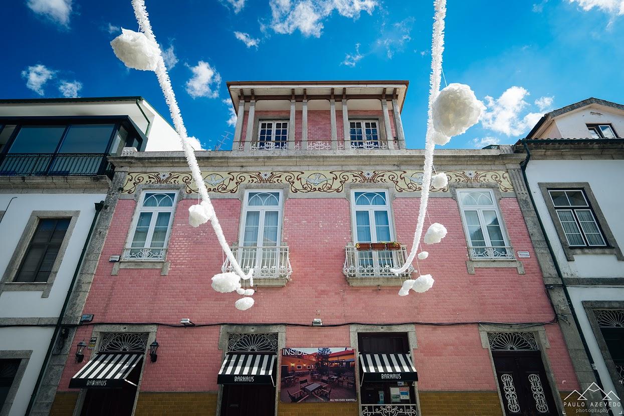 Fachada de uma casa em Braga