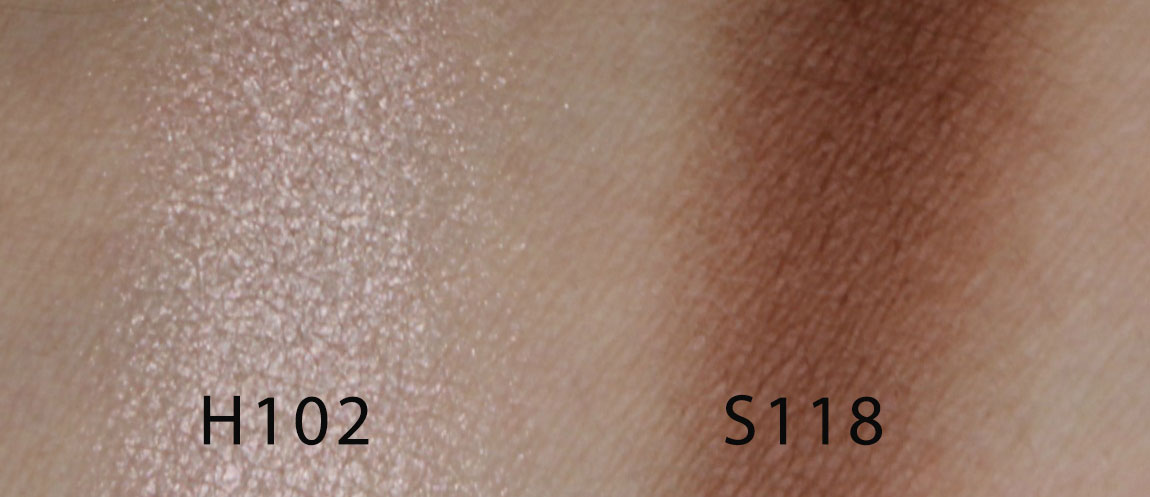 make up for ever artist face color H102 S118 swatches