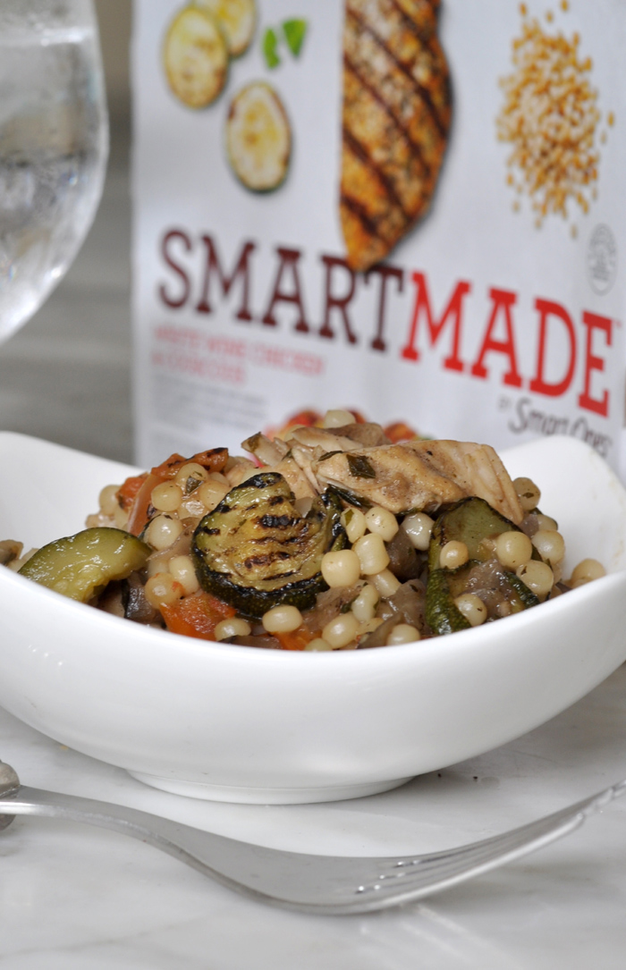 How do you incorporate healthy and balanced eating into a busy lifestyle White Wine Chicken & Couscous by SMARTMADE™
