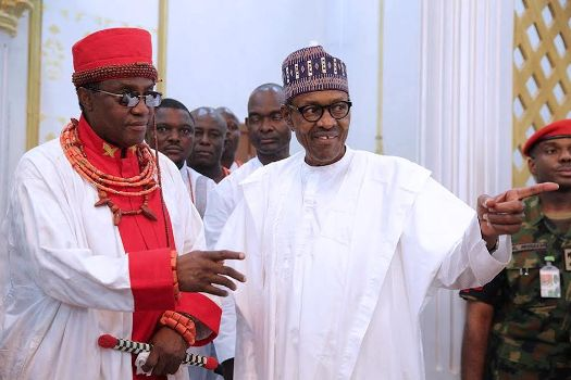 President Buhari has visited the Benin monarch, Oba Ewuare the second