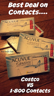 I recently ran out of contacts and instead of automatically going to Costco to get more I decided to see if I really was getting a good deal. So I decided to compare Costco's price with the price at 1800contacts.com. The contacts I use are Acuvue Oasys. Do you think Costco or 1800contacts.com is cheaper? #Deals #Save Money