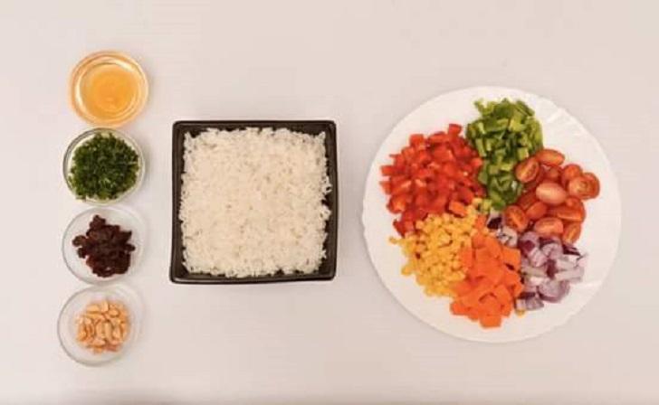 Rice Salad Ingredients