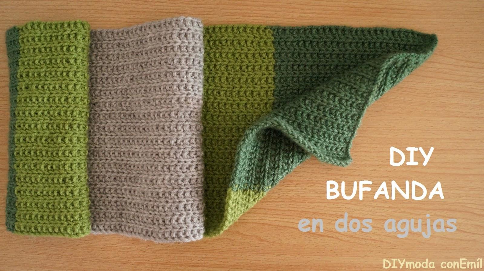 Diymoda conem l bufanda de lana a dos agujas en formula - Como hacer ochos de punto ...