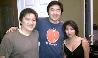 Drew Sugimoto (left), lead actor of Surrogate Valentine Goh Nakamura (center),  Minore Nishime (right) in  2010