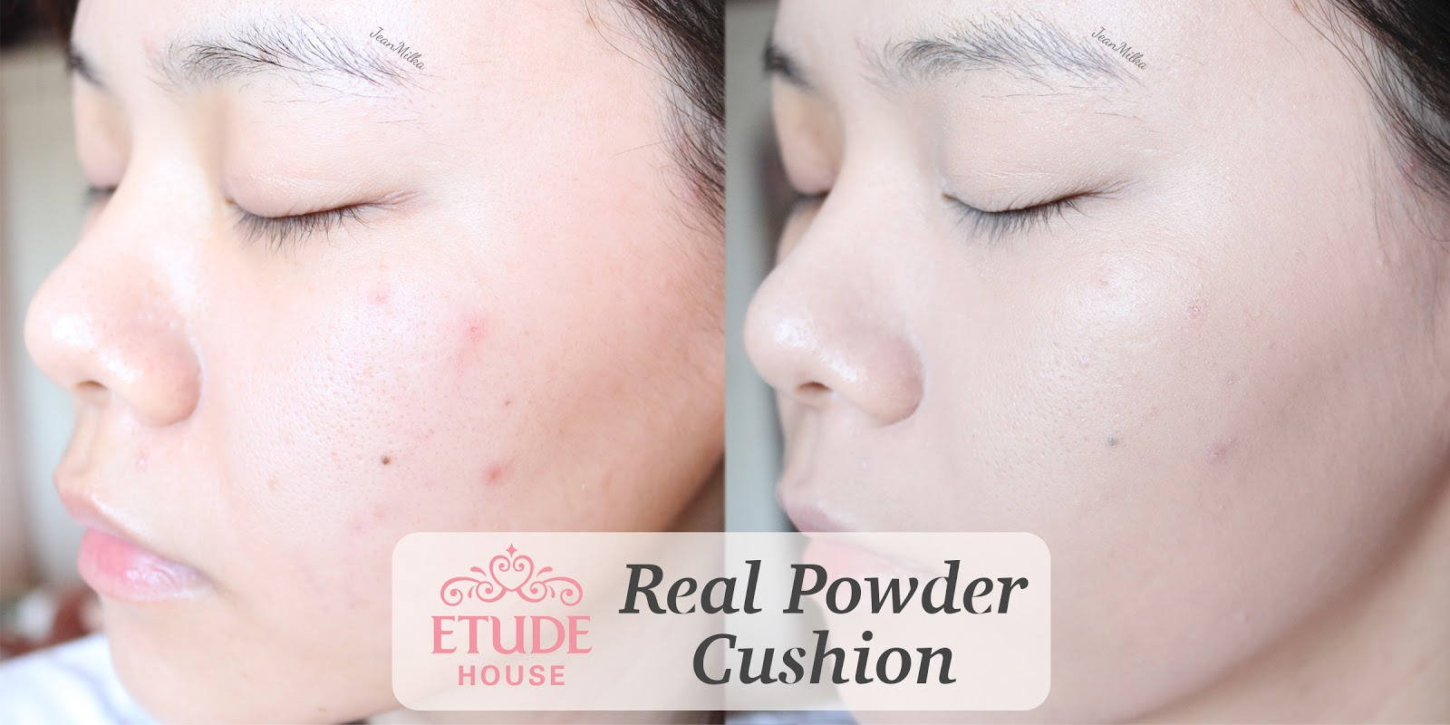 etude house, review etude house, real powder cushion, cushion foundation, oily skin, cushion for oily skin. korean makeup, makeup korea, best cushion for oily skin
