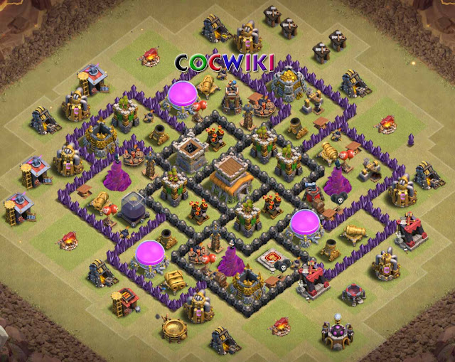 symmentrical town hall 8 war base design for ground troops
