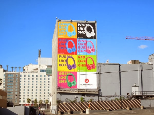 New Beats Solo color headphones billboard