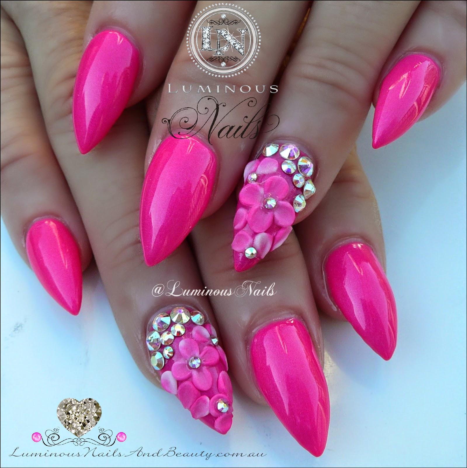 Pink Acrylic Nail Designs: Luminous Nails: May 2015