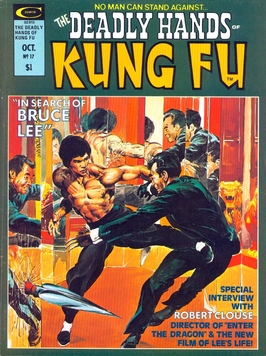 Deadly Hands of Kung Fu #17 comic book magazine cover by Neal Adams circa 1970s