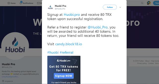 Nhận TRX coin miễn phí