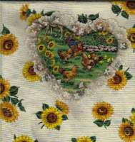 Double applique technique with lace edge used for pocket here