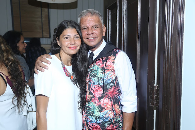 Pia Pauro with designer Hemant Sagar