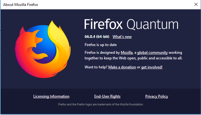 Firefox 66.0.4 Released with the fixes for a Bug let NoScript and HTTPS-Everywhere addons Disabled in TOR