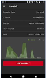 terhubung ke aplikasi IPVAnish di android