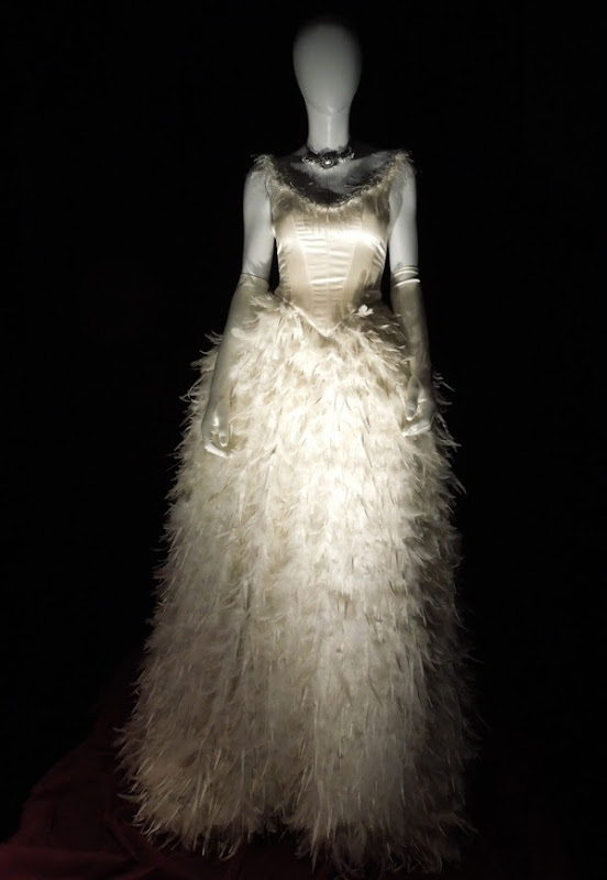 Once Upon a Time Snow White feathered wedding dress