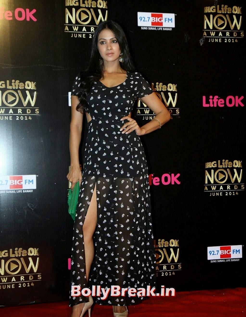 Barkha Bisht hot leg show Life Ok Now Awards 2014, Barkha Bisht Latest Hot HD Pics from Life Ok Now Awards 2014