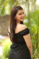 Mannara Chopra in Short Off Shoulder Black Dress ~  Exclusive 062.JPG