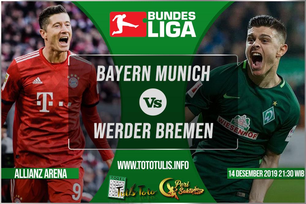 Prediksi Bayern Munich vs Werder Bremen 14 Desember 2019