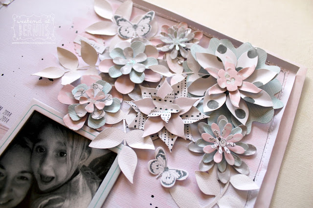 """""""XO """" layout by Bernii Miller using the """" Love Always"""" collection by Cocoa Vanilla Studio."""